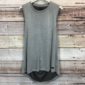 Under Armour Womens XL Fitted Tank Top Gray 0693